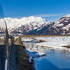 Alaska Railroad's incredible scenic train ride through the huge national forests and the Chugach mountains and the Kenai mountains between Anchorage and Seward, Alaska.