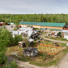 Village of Nenana on the Nenana River in Alaska. Famous for the Nenana Ice Classic lottery where people from all over the world attempt to guess the moment the ice in the Nenana River will begin breaking up in the spring.