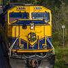 Diesel engine locomotive of the Alaska Railroad between Seward and Anchorage, Alaska.
