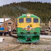 In Carcross, Yukon Territory, Canada, the White Pass (WP&YR) trains are working trains, pulling freight and cargo cars.