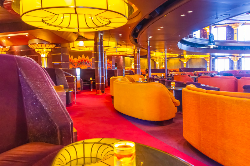 Luxurious interior of Holland America Cruise Ship Volendam.