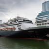 Cruise Ship Volendam at Canada Place Cruise Ship Terminal in Vancouver Harbor, Vancouver, British Columbia, Canada.
