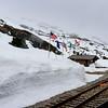 White Pass Summit on White Pass and Yukon Route Railroad in Alaska.