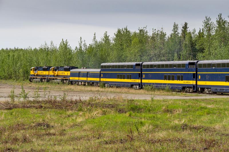 Alaska Railroad train ride - between Fairbanks, Alaska and Denali National Park, Alaska.
