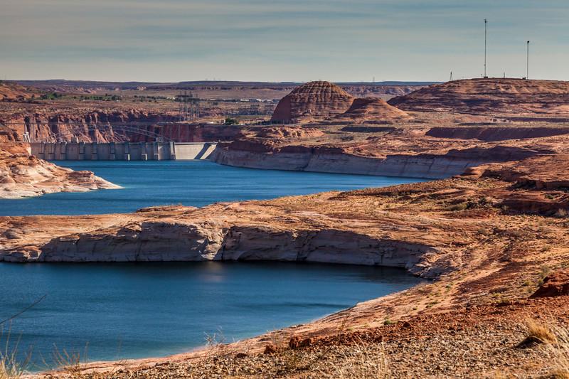 Glen Canyon Dam on the Colorado River, creating Lake Powell and The Glen Canyon National Recreation Area.