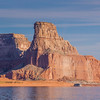Gunsight Butte on Lake Powell. Lake Powell and the Glen Canyon National Recreation area, covering over a million acres with about 2000 miles of shoreline, is the second largest reservoir in North America. The Glen Canyon NRA is managed by the National Park Service.