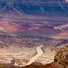 Colorado River winding through the Grand Canyon at Grand Canyon National Park in Arizona.