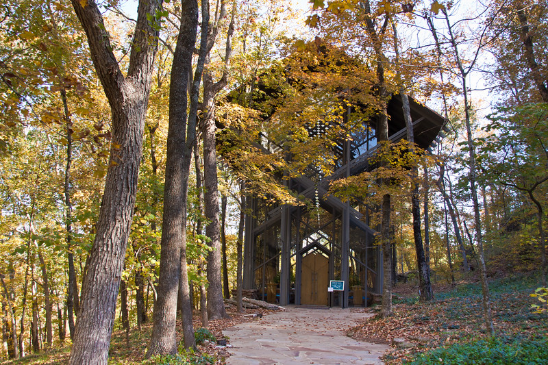 Thorncrown Chapel in Eureka Springs, Arkansas, completed and opened to the public in 1980, is both a spiritual and an architectural wonder. It is 48 feet tall with 425 windows and over 6,000 square feet of glass.