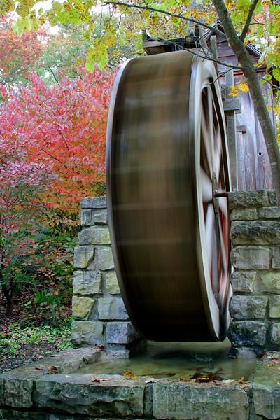 Autumn in Arkansas - Old Water Mill in Eureka Springs Gardens in Eureka Springs, Arkansas.