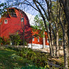 Red Barn in Arkansas in October.