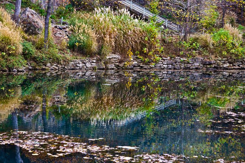 Autumn Color in Eureka Springs Gardens, near Eureka Springs, Arkansas.
