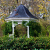 Gazebo in Eureka Springs Gardens in the Ozark Mountains in Arkansas.