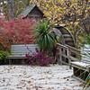 Old Water Mill with autumn color at Eureka Springs Gardens, near Eureka Springs, Arkansas.