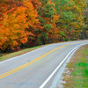 Scenic Highway 7 in Arkansas in Autumn.