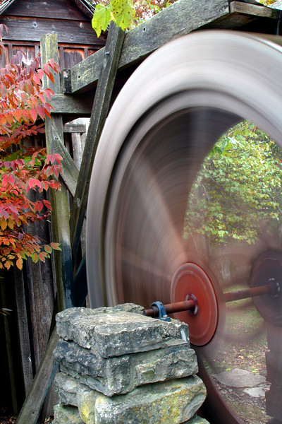 Autumn in Arkansas - Old Water Mill in Eureka Springs Gardens in Eureka Springs, Arkansas.