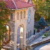 Belfry of St. Elizabeth Catholic Church in Eureka Springs, Arkansas. The only entrance to the Church is through the Belfry which leads to a path down to the Church.