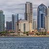 San Diego, California, skyline and harbor.