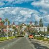 Famous Hotel Del Coronado Resort, built in 1888, on Coronado Island in San Diego, California.