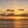 Sunrise over Southern California coast, viewed from Catalina Island.