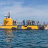Nautilus Submarine Adventures Tours boat in Avalon Harbon on Catalina Island, California.
