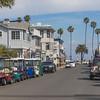 Downtown Avalon on Catalina Island, California.