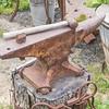 Hammer and Anvil at Mission San Juan Capistrano in California -ruins, museum, and rehabilitation in progress.