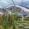 Independence SuperChair Ski Lift at Grand Lodge Resort on Peak 7 mountain at Breckenridge, Colorado.