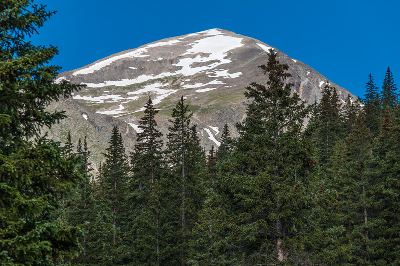 Quandary Peak seen from Cold Water Creek Lodge in Colorado