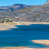 Blue Mesa Reservoir along US 50 in Colorado, between Montrose and Gunnison.