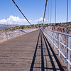 Royal Gorge Suspension Bridge in Colorado. This bridge over the Arkansas River is the world's highest suspension bridge hanging 1053 feet above the river.