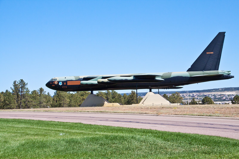 B-52 bomber airplane on display at United States Air Force Academy in Colorado Springs, Colorado.