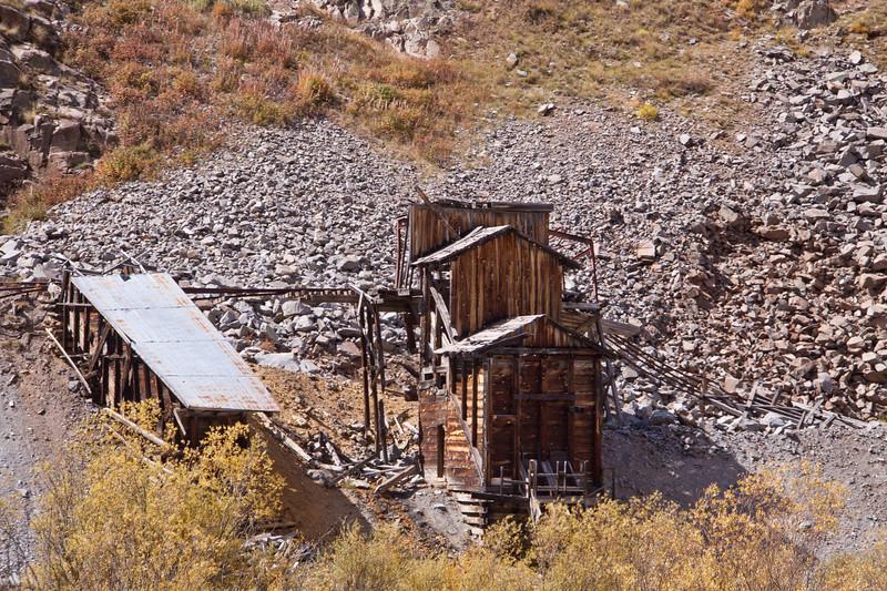 Abandoned Mining Buildings at Silverton, Colorado.