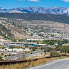 US 550 at Durango, Colorado, with San Juan Mountains in the distance.