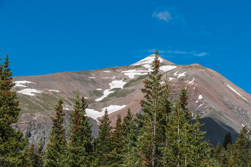 Hoosier Pass, at 11, 539 feet, is a high mountain pass in the Rocky Mountains in Colorado. The pass is located on the Continental Divide at the northern end of the Mosquito Range, in a gap between Mount Lincoln (west) and Hoosier Ridge (east).