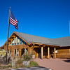 Visitor's Center at the Black Canyon of the Gunnison National Park in Colorado. The canyon carved by the Gunnison River was established as a U.S. National Monument on March 2, 1933 and made into a National Park on October 21, 1999.