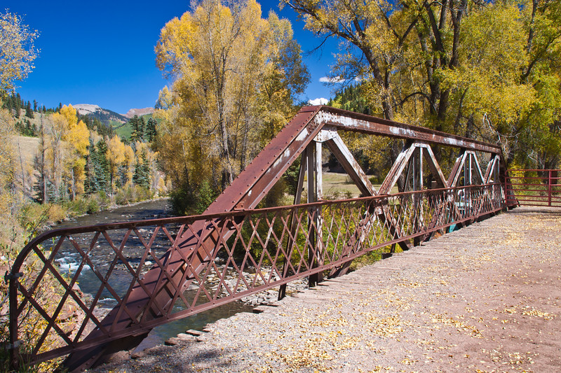 Autumn color along the San Juan Skyway Scenic Byway in Colorado. The San Juan Skyway is an incredibly beautiful loop of designated Colorado State Highways covering 236 miles in Southwest Colorado.