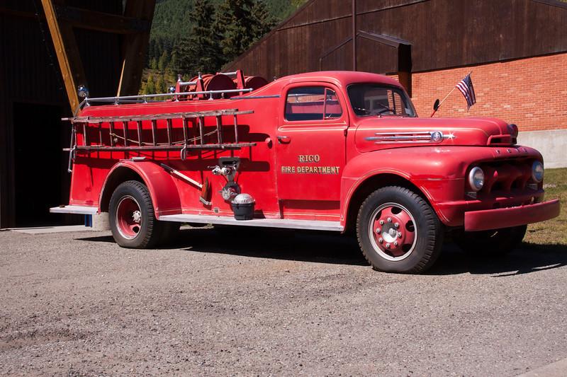 Antique Fire Engine at Rico, Colorado.