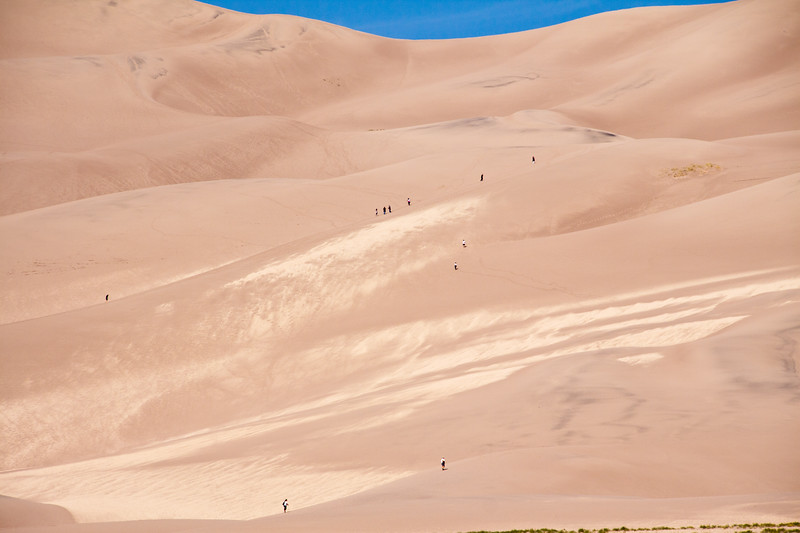 Great Sand Dunes National Park in Colorado. These are the tallest sand dunes in North America, spread over 30 square miles at altitudes above 8200 feet.