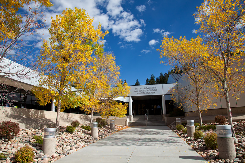 Barry Goldwater Air Force Academy Visitor Center at Colorado Springs, Colorado.