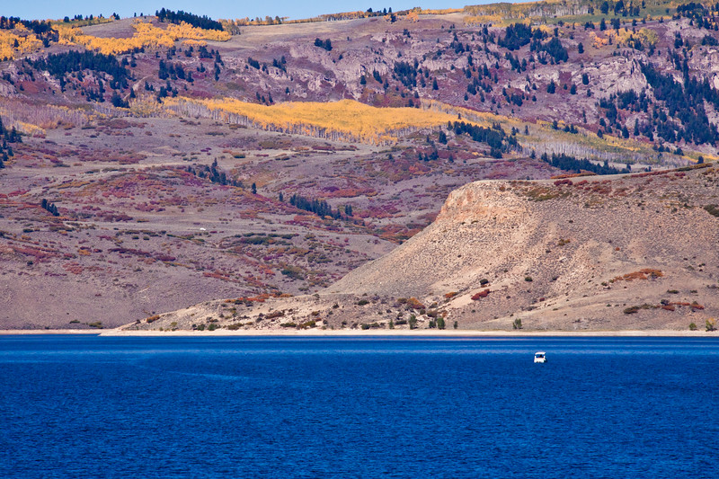 Lake in the Colorado Curecanti National Recreation Area formed by dams on the Gunnison River.