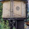 Historic Railroad Water Tower along the Durango and Silverton Narrow Gauge Railroad between Durango and Silverton Colorado.