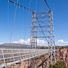 Royal Gorge Suspension Bridge in Colorado. This bridge over the Arkansas River is the world's highest suspension bridge hanging 1053 feet above the river.