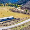 Scenic drive along Colorado Gunnison County road 742