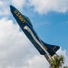 US Navy Blue Angels Grumman Cougar jet on display at Florida Welcome Center.