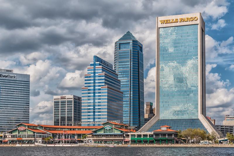 Jacksonville Landing, on St Johns River in downtown Jacksonville, Florida.