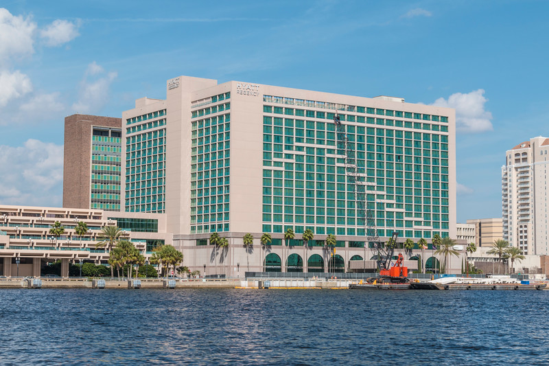 Hyatt Regency on St Johns River in downtown Jacksonville, Florida.