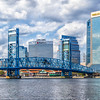 Main Street Bridge in Downtown Jacksonville, Florida on the St Johns River.