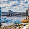 Jacksonville Landing on St Johns River in downtown Jacksonville, Florida.