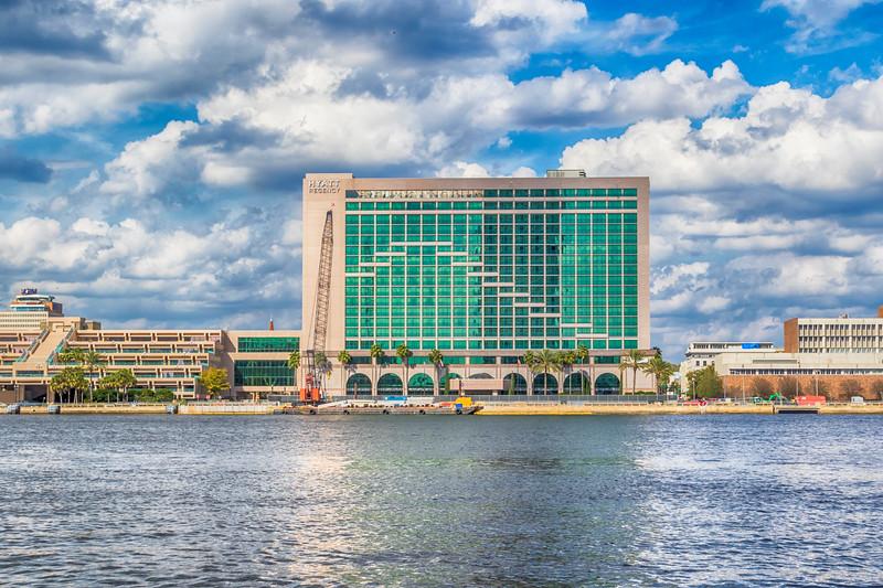 Hyatt Regency complex in downtown Jacksonville, Florida.