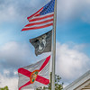 Florida Welcome Center - US Flag, Florida Flag